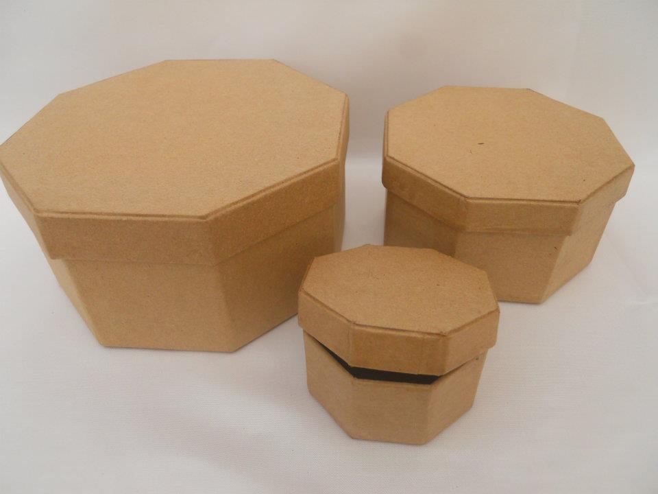 Caja Carton Octogonal N. Grande Lisa 14.5x14.5x7.5 | Sin Definir