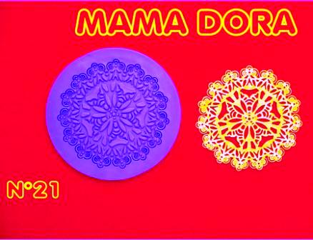 Moldes De Caucho Mandala M Dora Nº21 Sin Definir