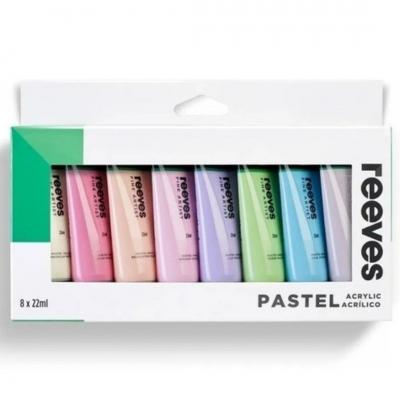 Set Acrílicos 8 Colores Pastel - Pomo 22 Ml