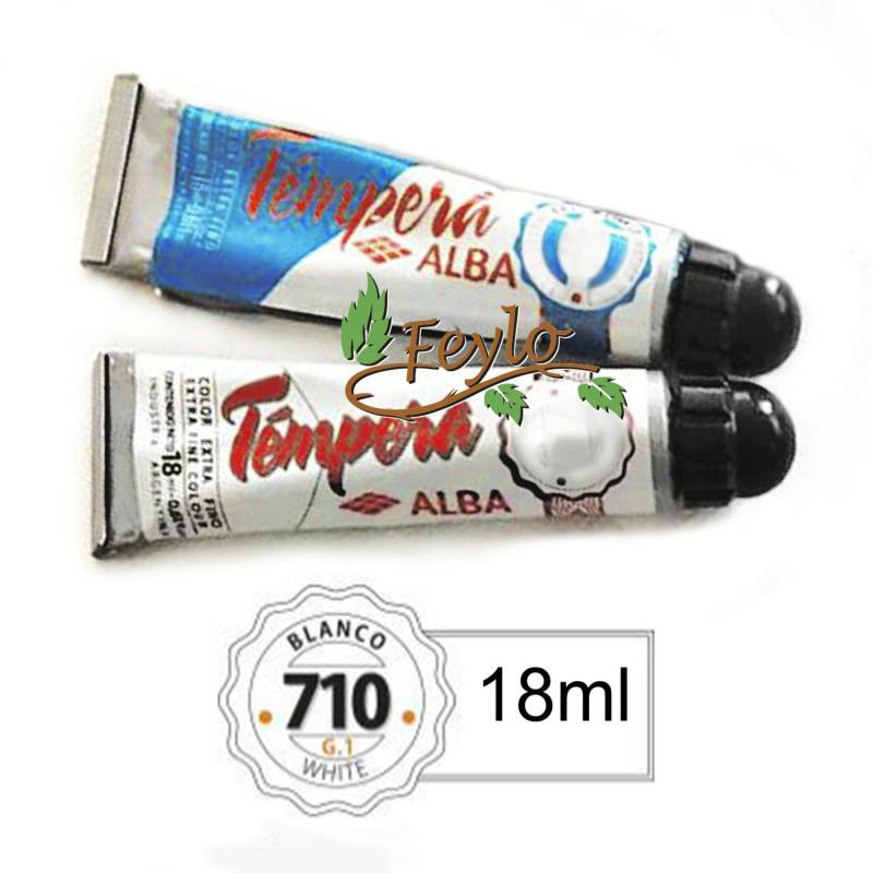 Tempera Prof. Alba  X 18 Ml Blanco