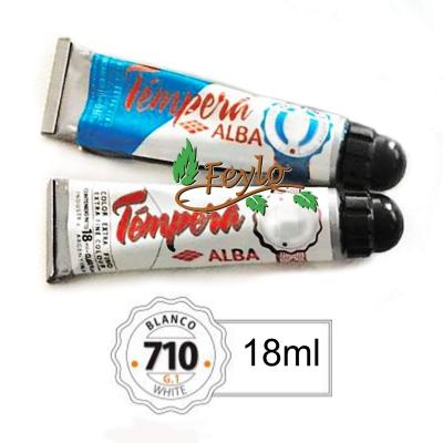 Tempera Prof. Alba  X 18 Ml Blanco