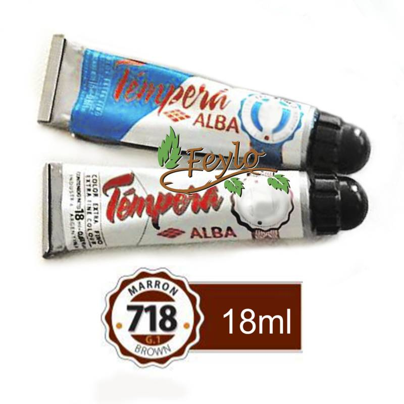 Tempera Prof. Alba  X 18 Ml Marron