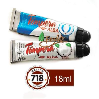 Tempera Prof. Alba  X 18 Ml Marron