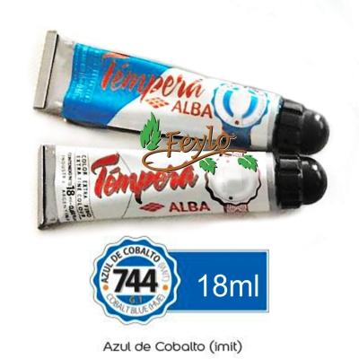 Tempera Prof. Alba  X 18 Ml Azul De Cobalto (imit)
