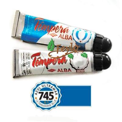 Tempera Prof. Alba  X 18 Ml Azul Ultramar
