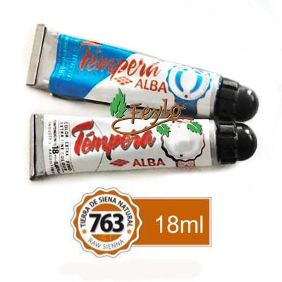 Tempera Prof. Alba  X 18 Ml Tierra De Siena Natural
