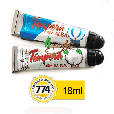 Tempera Prof. Alba  X 18 Ml Amarillo Mediano