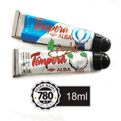 Tempera Prof. Alba  X 18 Ml Negro Marfil