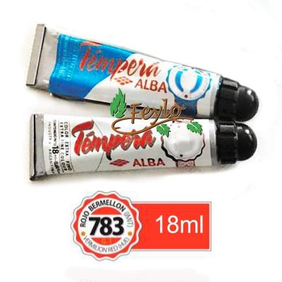 Tempera Prof. Alba  X 18 Ml Rojo Bermellon (imit)
