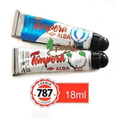 Tempera Prof. Alba  X 18 Ml Carmin