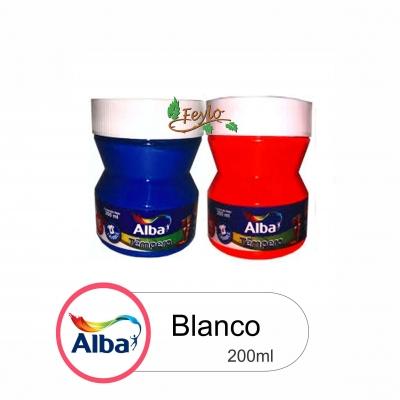 Tempera Trad. Alba  X 200ml Blanco