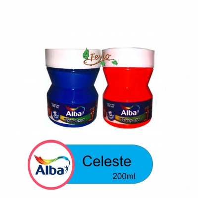 Tempera Trad. Alba  X 200ml Celeste