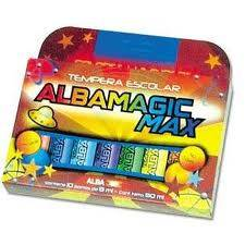 Tempera  Albamagic Max X 8 Gs Col. Surtidos