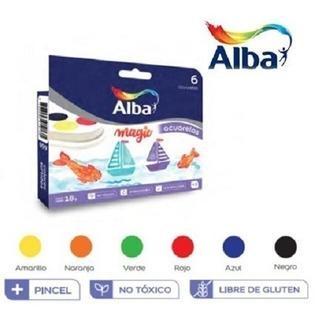 Acuarelas Alba En Blister X 6 Colores