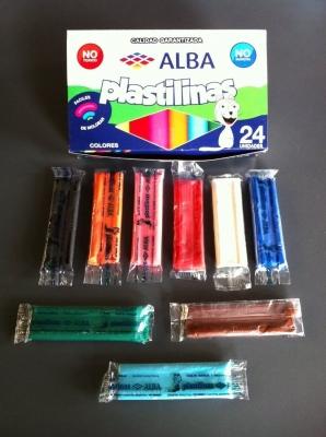 Plastilina Alba  X 10 Barras Col/surtidos