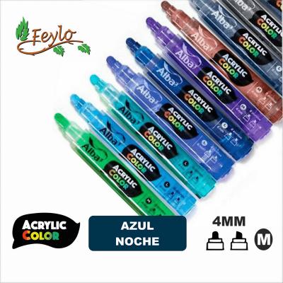 Acrylic Colour Azul Noche Punta 4mm