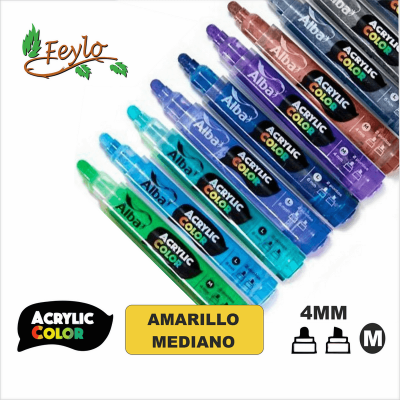 Acrylic Colour Amarillo Mediano Punta 4mm
