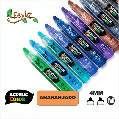 Acrylic Colour Anaranjado Punta 4mm