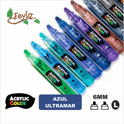 Acrylic Colour Azul Ultramar Punta 6mm