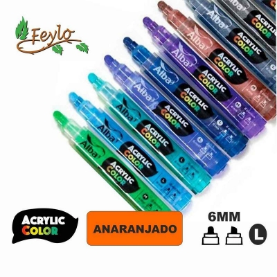 Acrylic Colour Anaranjado Punta 6mm