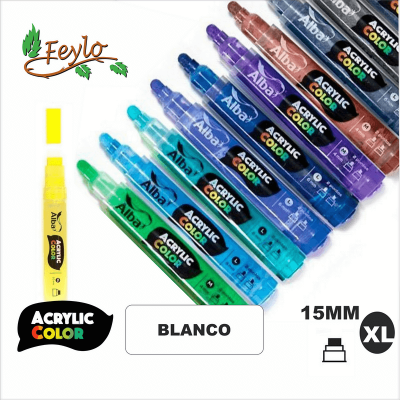 Acrylic Colour Blanco Punta 15mm