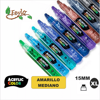 Acrylic Colour Amarillo Mediano Punta 15mm