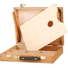 Caja Para Pintor C/ Paleta 32 X 24 X 7,1 Cm