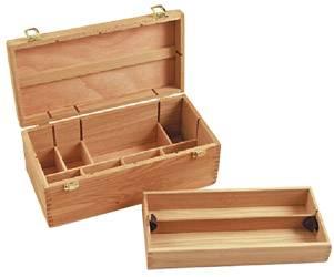 Caja De Madera Con 1 Piso 40,5 X 20 X 15,5 Cm