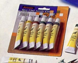 Set Acrilicos  Art-mate 12ml X 6 Unidades