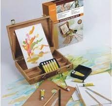 Caja Con Atril + Set De Acrilicos