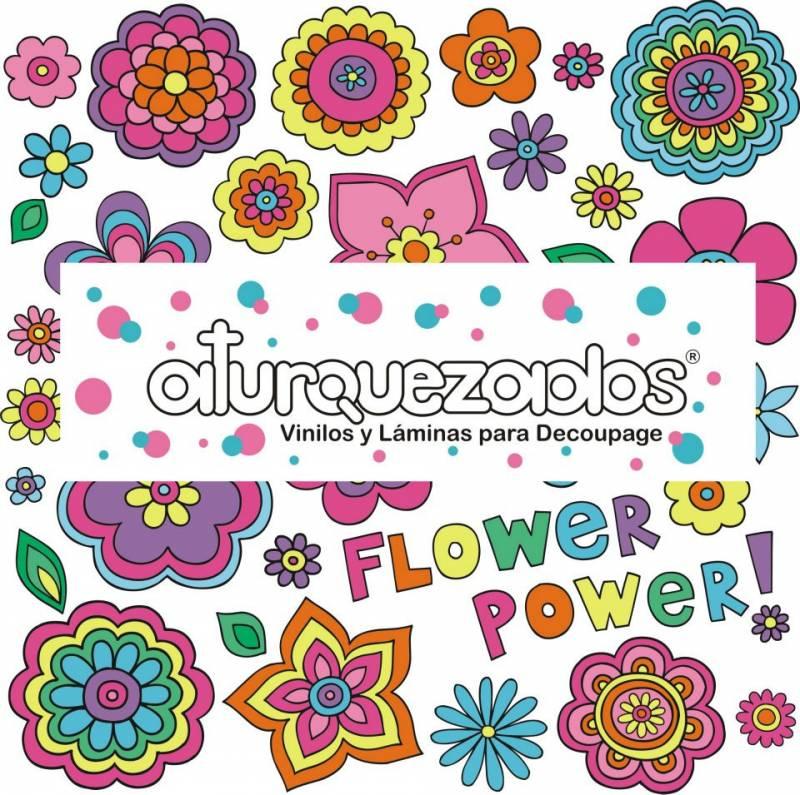 Laminas A4 Aturquezados Fower Power-201