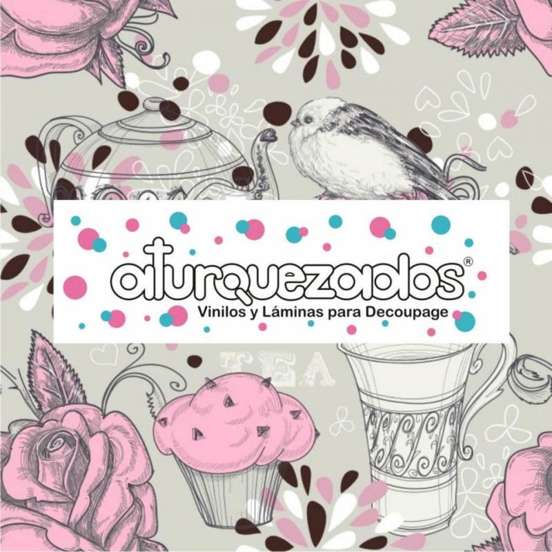 Laminas A4 Aturquezados I Love Tea- 501