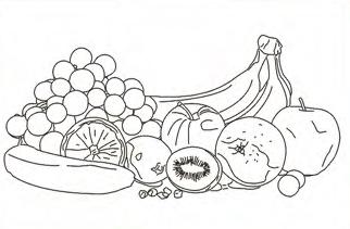 Bastidor Bocetado 24x30 Frutas
