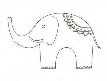 Bastidor Bocetado 24x30 Elefante