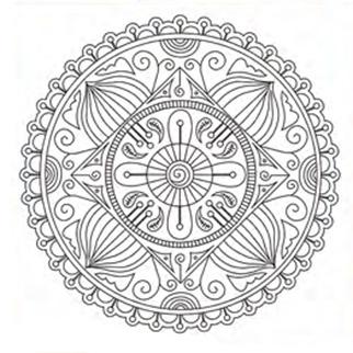 Bastidor Bocetado 30x30  Mandala Puntilla
