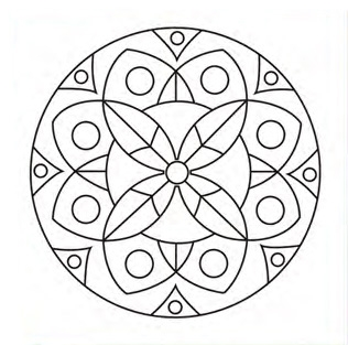 Bastidor Bocetado 30x30  Mandala Flor