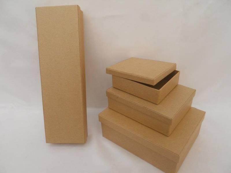 Caja Carton Rectangular Chica Lisa 12x10x3.5
