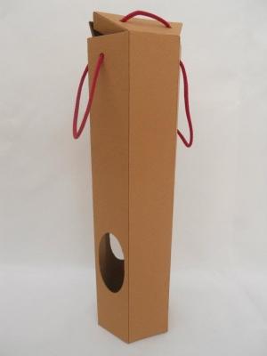 Caja Carton P/ Botella Hexagonal 34x8