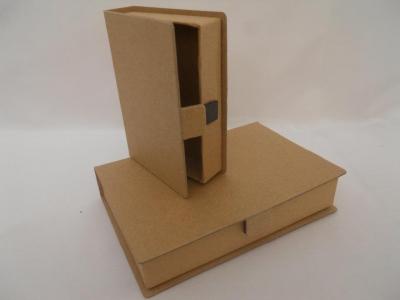 Caja Libro Mediana  Lisa Con Iman 16x11x3.5
