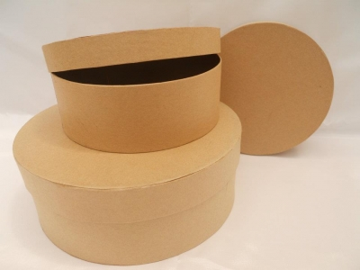 Caja Carton Redonda Chica 15 X 5,5 Cm