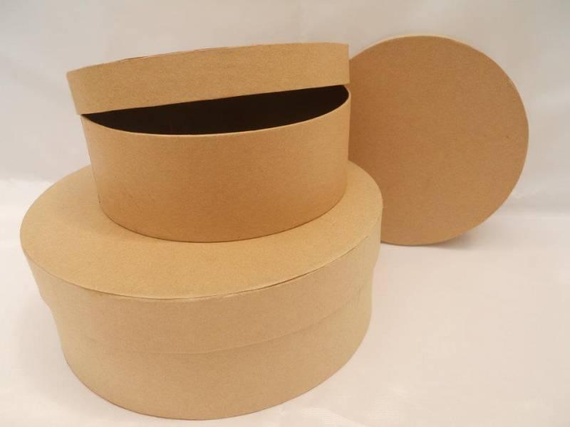 Caja Carton Redonda Grande 20 X 7,5 Cm