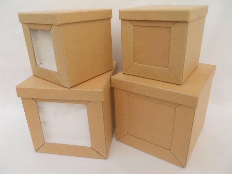 Caja Carton Cubo Chico Liso 12.5x12.5x12.5