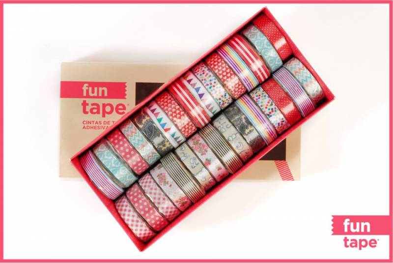 Fun Tape X 5 Mts (autoadhesiva) Caja X  30 Unidades