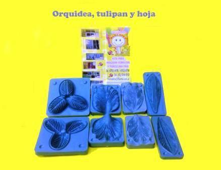 Moldes Frisadores Tulipan-hoja-orquidea-hoja