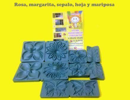 Moldes Frisadores Varias: Rosa-margarita-cepalo-hoja-mariposa