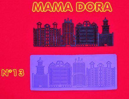 Moldes De Caucho Edificios M. Dora Nº13