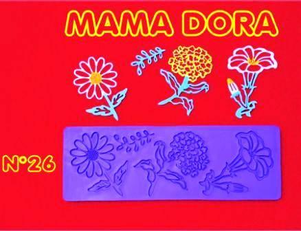 Moldes De Caucho Crisantemo M. Dora Nº26