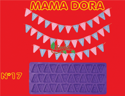 Moldes De Caucho Banderines M. Dora Nº17