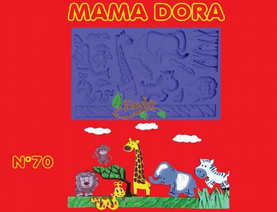 Moldes De Caucho Animales Selva M. Dora Nº70