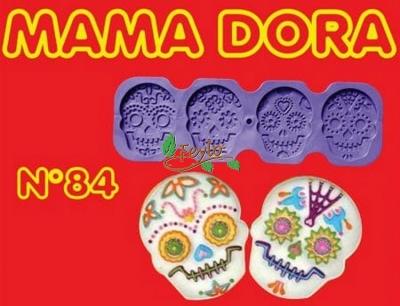 Moldes De Caucho Calavera M. Dora Nº84